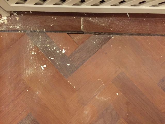 Reparatie visgraatvloer stap 1